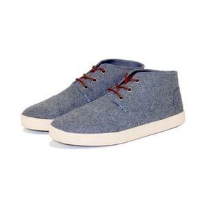 Toms Men's Paseo-Mid Castlerock Wool Shoes
